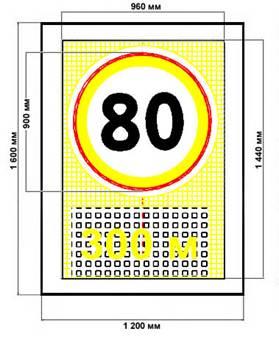 Управляемый дорожный знак(УДЗ) Знак переменной информации (ЗПИ)